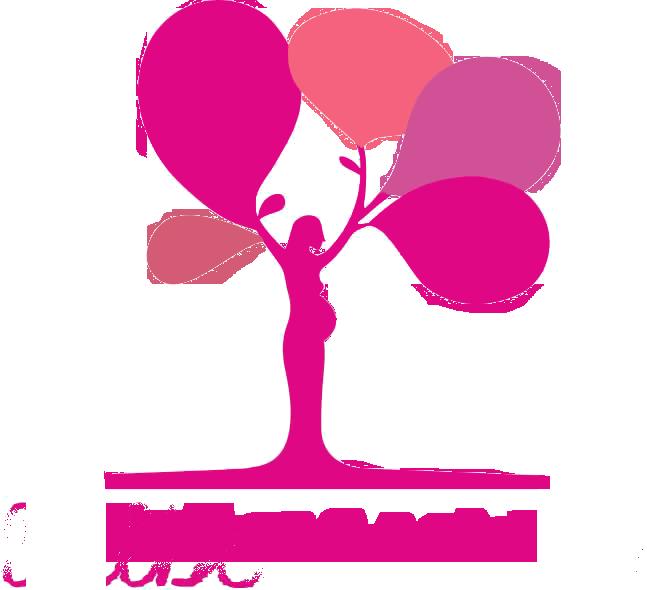 logo albero rosa